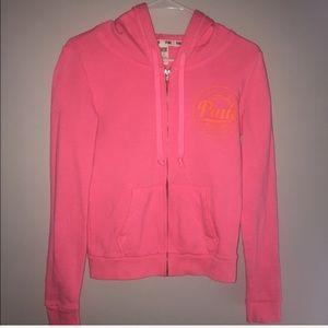 Full Zip Pink Sweatshirt